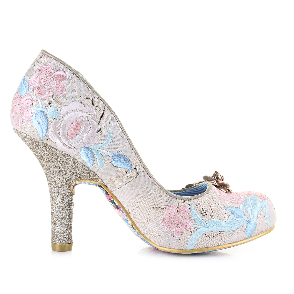 Rose Gold Court Shoes New Look