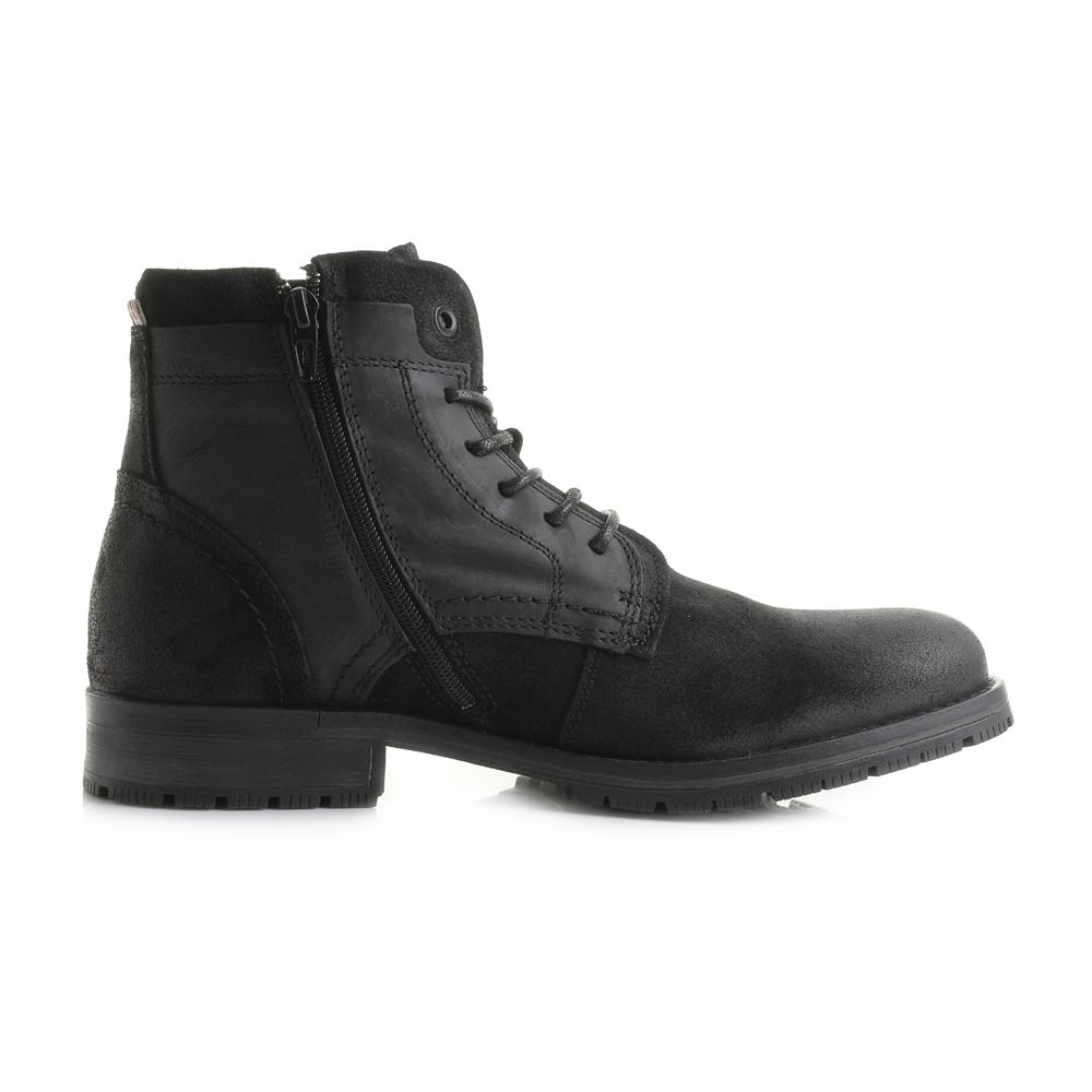 Men's Hanibal Men's Black Leather Chukka Boots