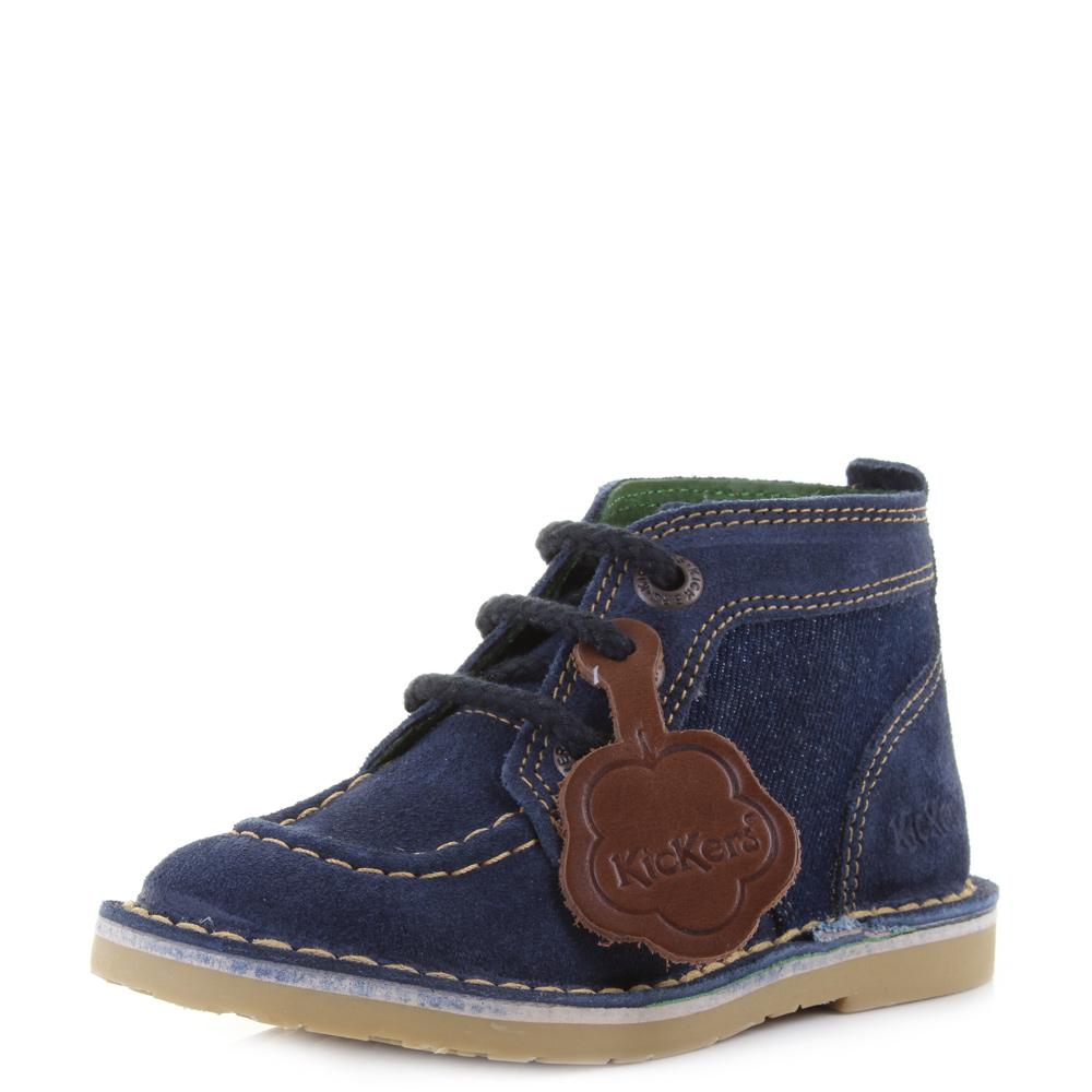 Adlar details about boys kids kickers infant adlar legendary dark blue yellow  ankle boots size