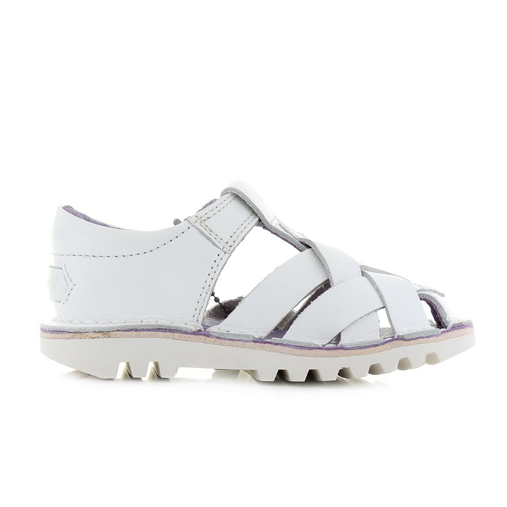 77de6dd1b859 Kickers girly Kick Weave closed toe sandals in the white would be perfect  for summer parties or for round in the park!