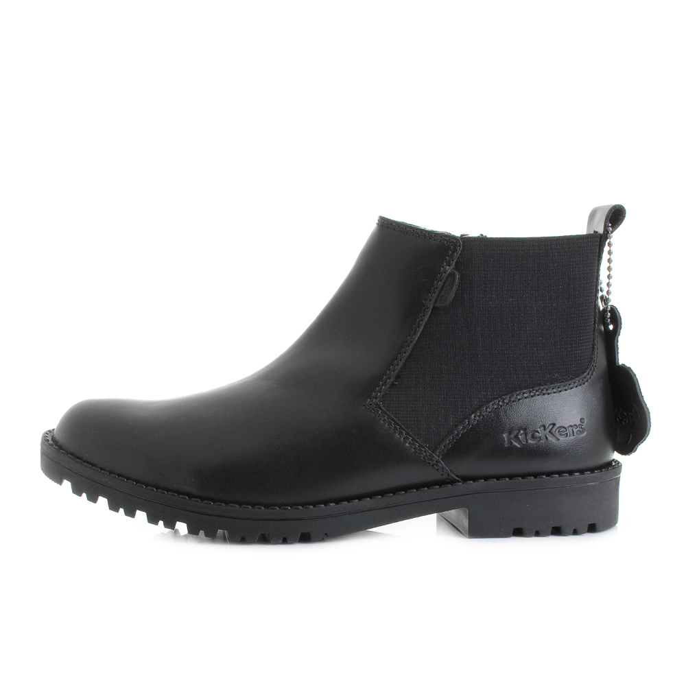 96b2a5f2 Womens Kickers Lachly Black Leather Zip Up Comfort Smart Chelsea Boots UK  Size