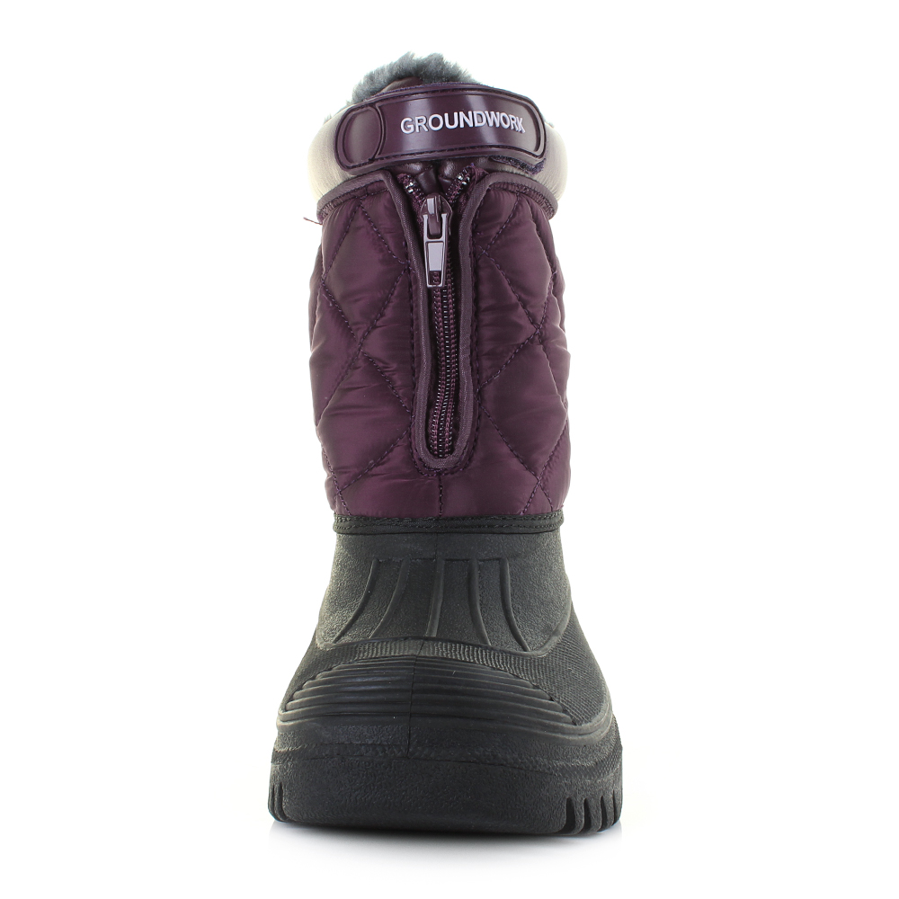 Womens LSC83 Mukka Purple Quilted Waterproof Work Outdoor Boots Sz Size