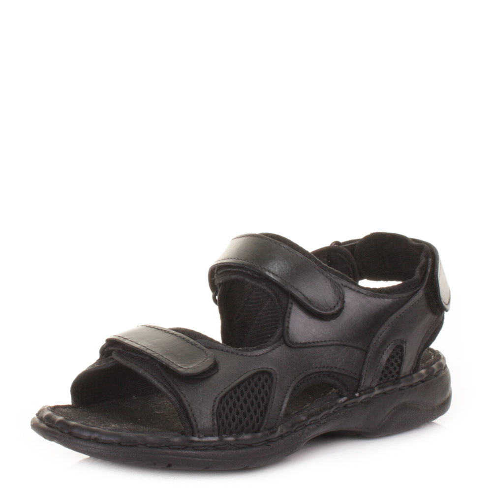 Mens  Real Leather Outdoor Beach Summer Comfort Sandals Shoes Size 6-12