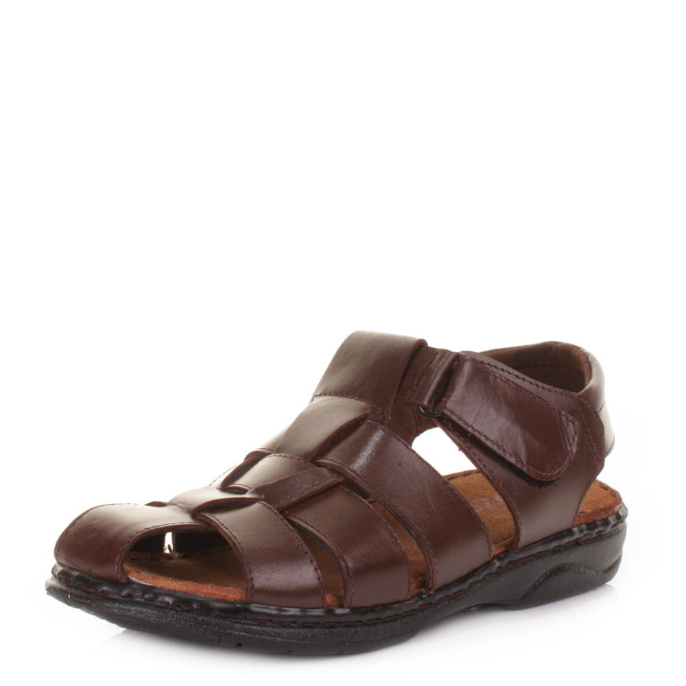 Mens Comfort Fisherman Real Leather  Summer Sandals Shoes Size 6-12