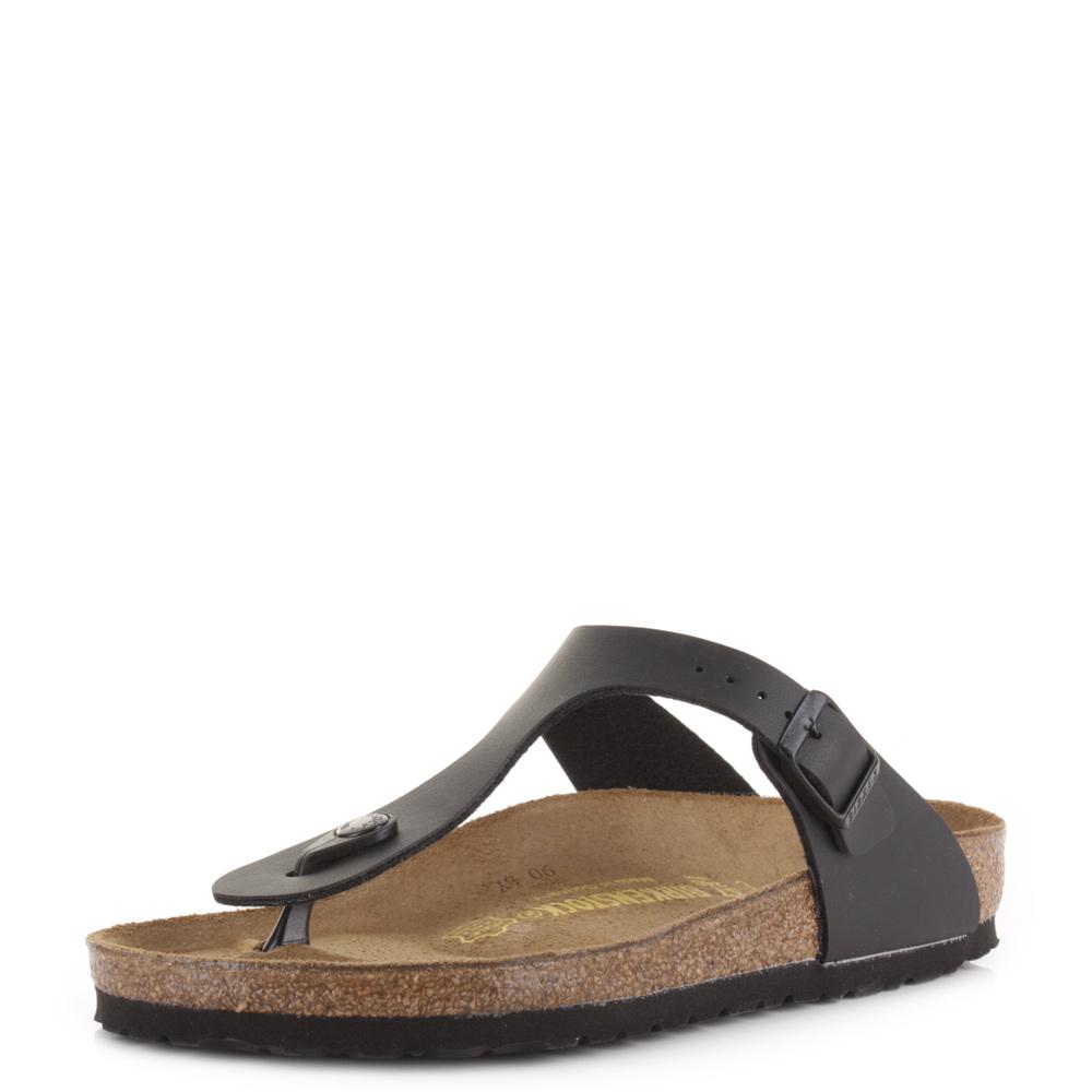 ed29706283c Womens Birkenstock Gizeh Black Regular Fit Toe Post Sandals Shu Size ...