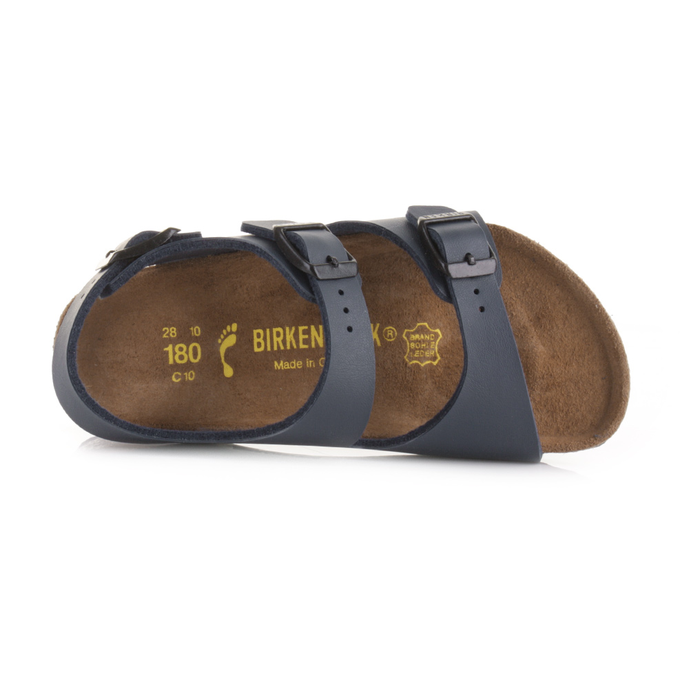 Navy About Blue Sandals Birkenstock Roma Narrow Size Triple Fit Kids Details Strap QerBodCxW