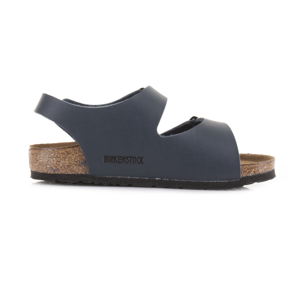 Kids Birkenstock Roma Blue Triple Strap Navy Narrow Fit Sandals Size ... 4d2a2679bb3