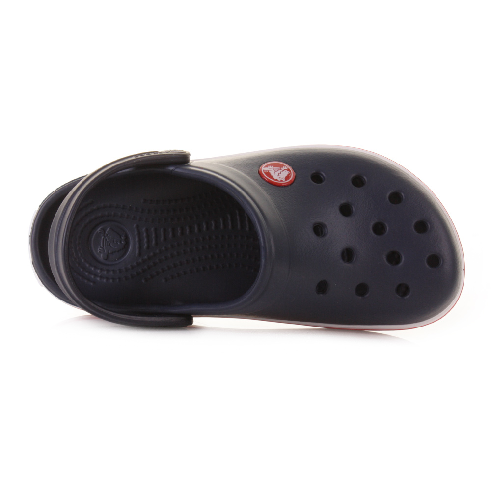 144131c30452 Kids Childrens Boys Girls Crocs Crocband Navy Red Sandals Jelly Shoes Size  C6 7-