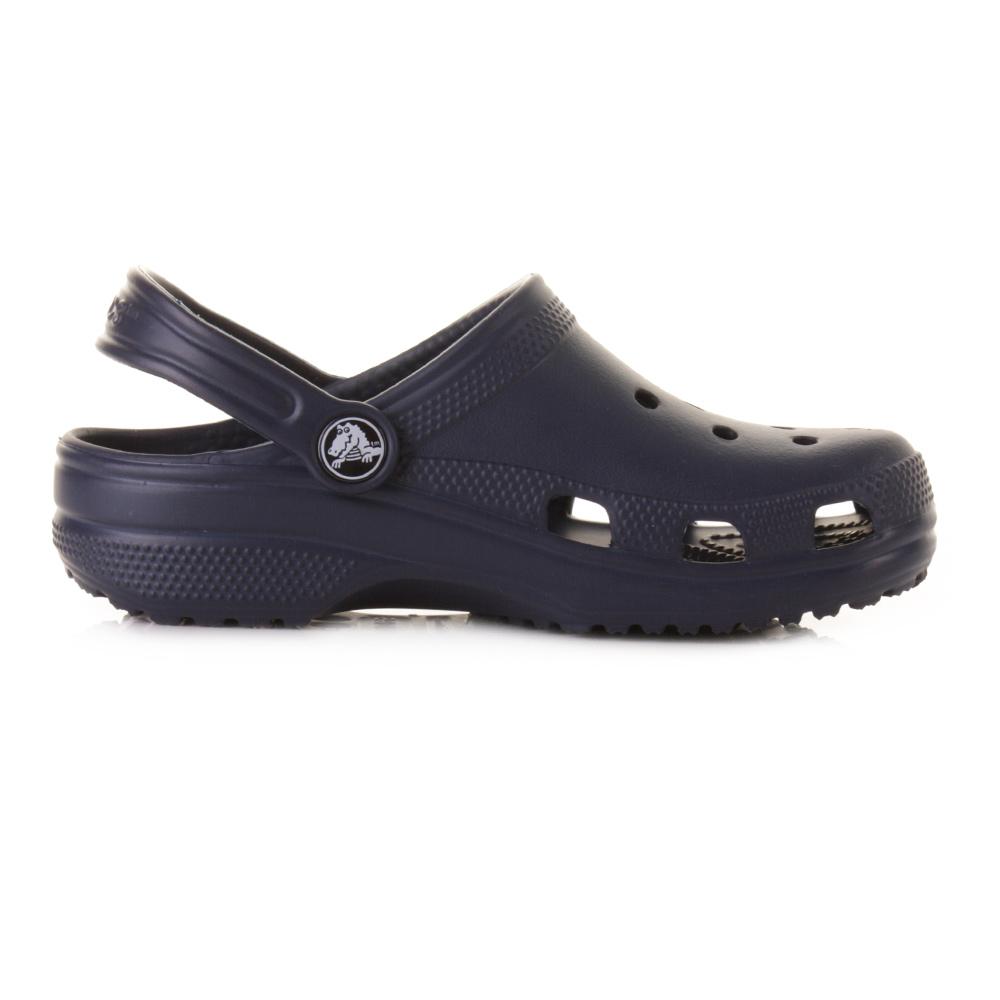 acf752d8fae3fa Kids Boys Girls Crocs Classic Navy Blue Jelly Sandals Shoes Size C8 9-M3 W5