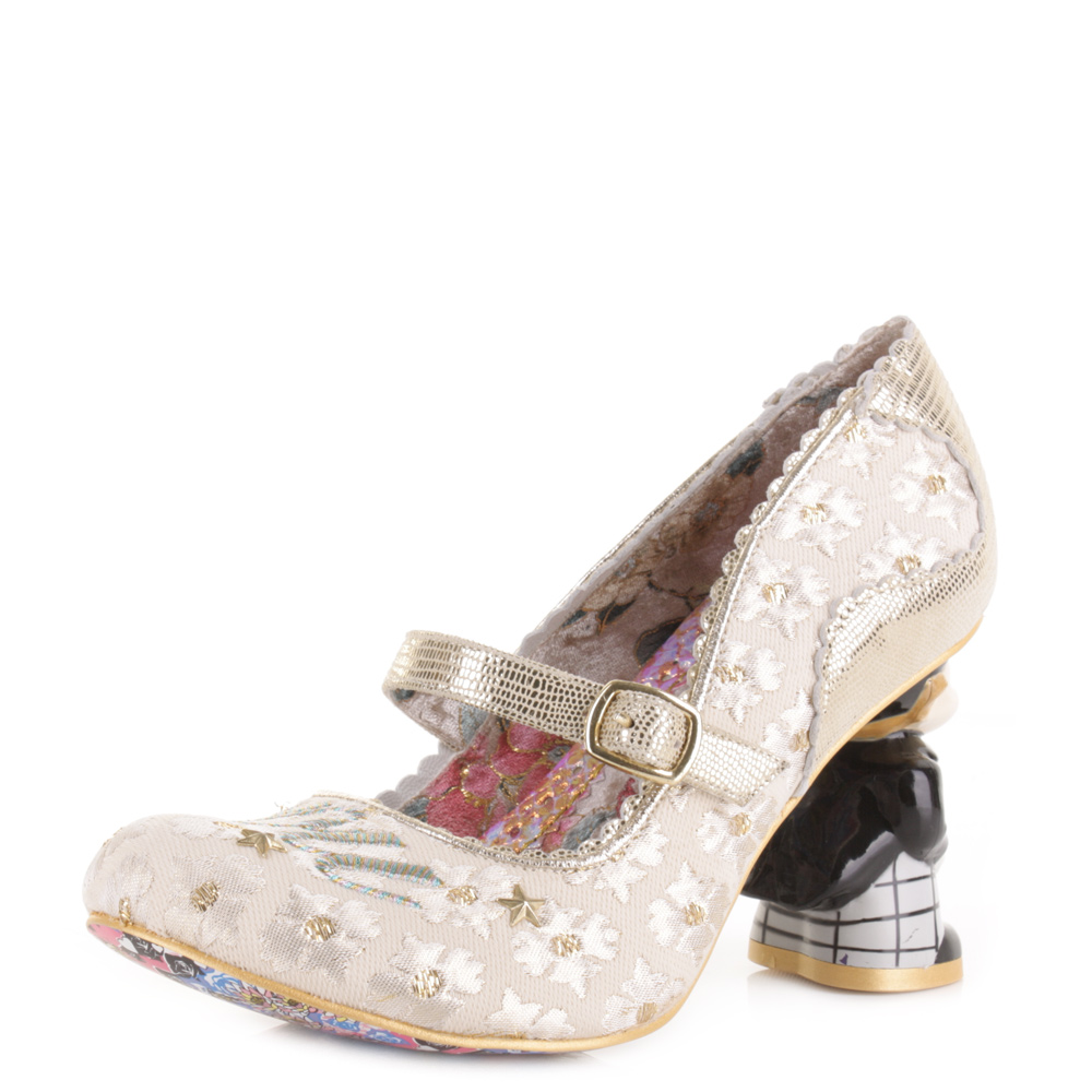 Womens Irregular Choice I Love You Office White Wedding Court Shoes Uk Size