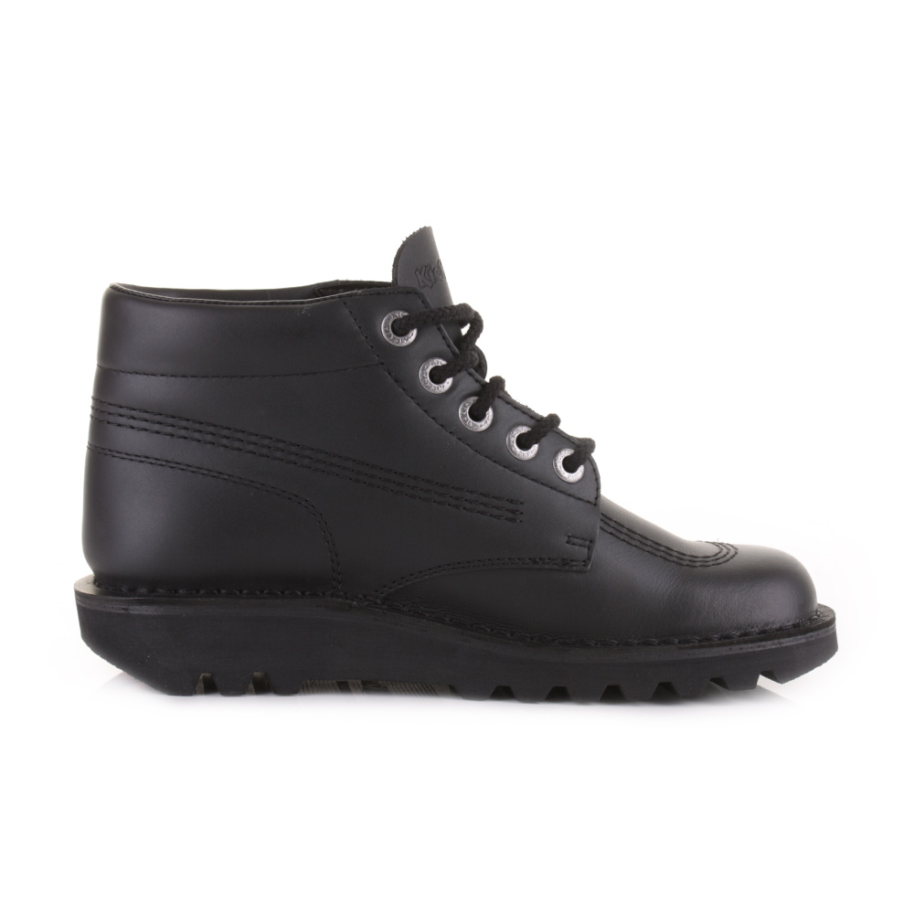 18f74b8ee15aee Mens Kickers Kick Hi Black Leather Smart Casual Work School Shoes Boots Size