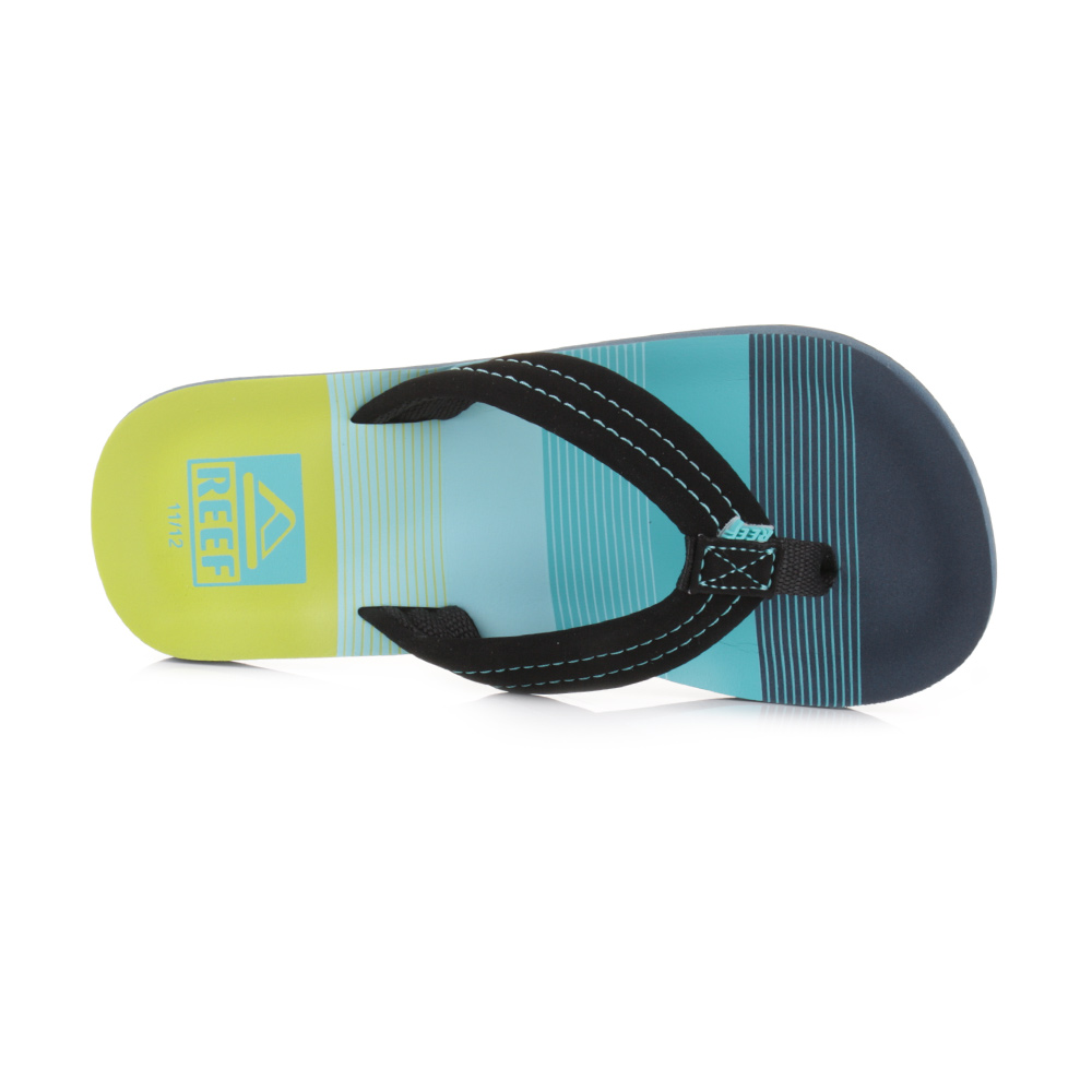 383de6b23c4c92 Boys Kids Reef Ahi Little Aqua Green Toe Post Sandals Beach Flip Flops Size