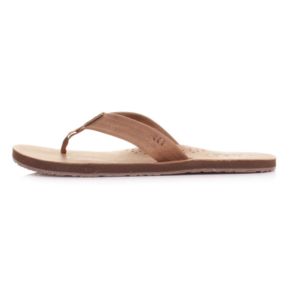 ac87dd5e8f0 ... Toe Post Flip Flops Sandals Size 6-12. Reef Draftsmen bronze brown flip  flops
