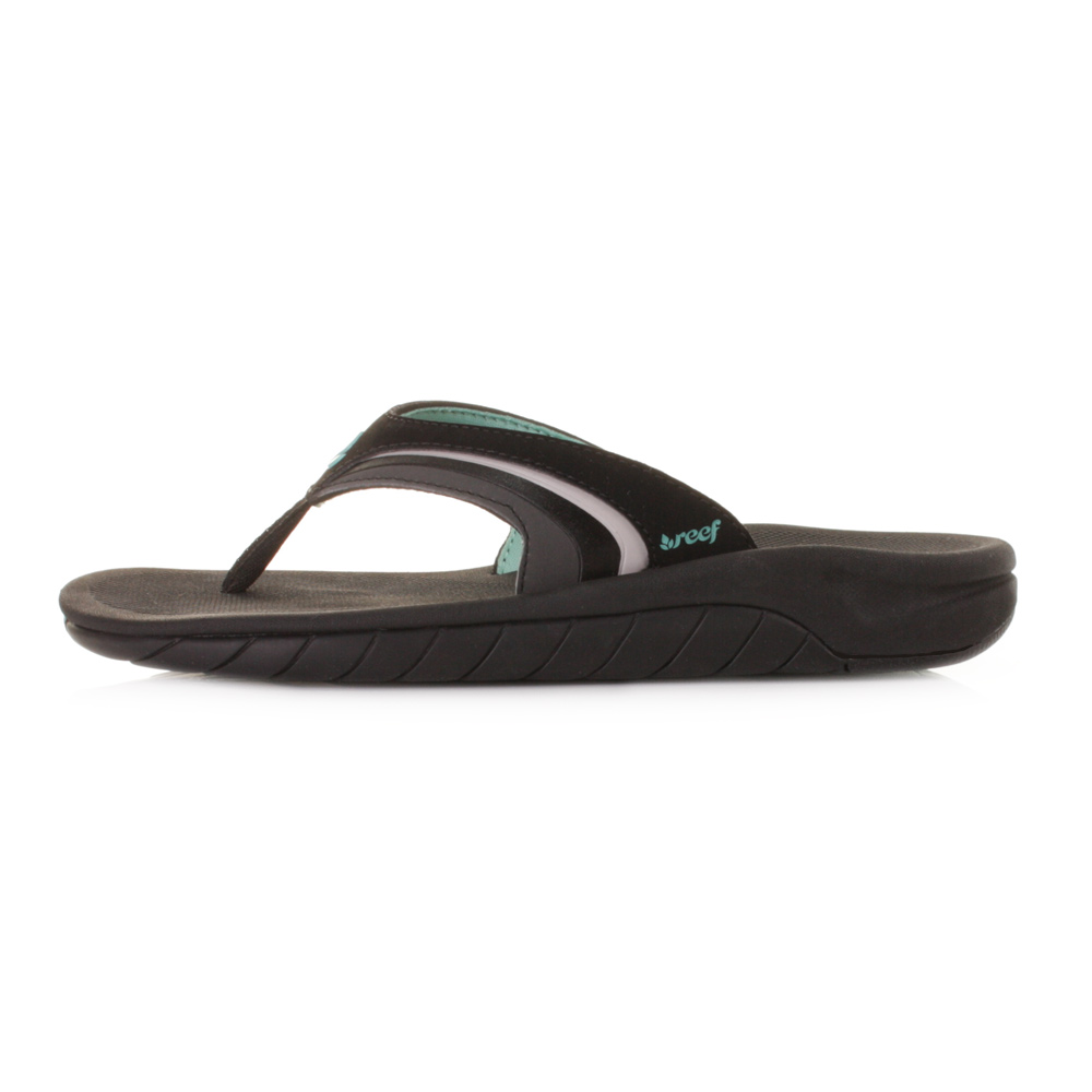 Womens Reef Girls Slap 3 Flip Flop BlackBlackAqua