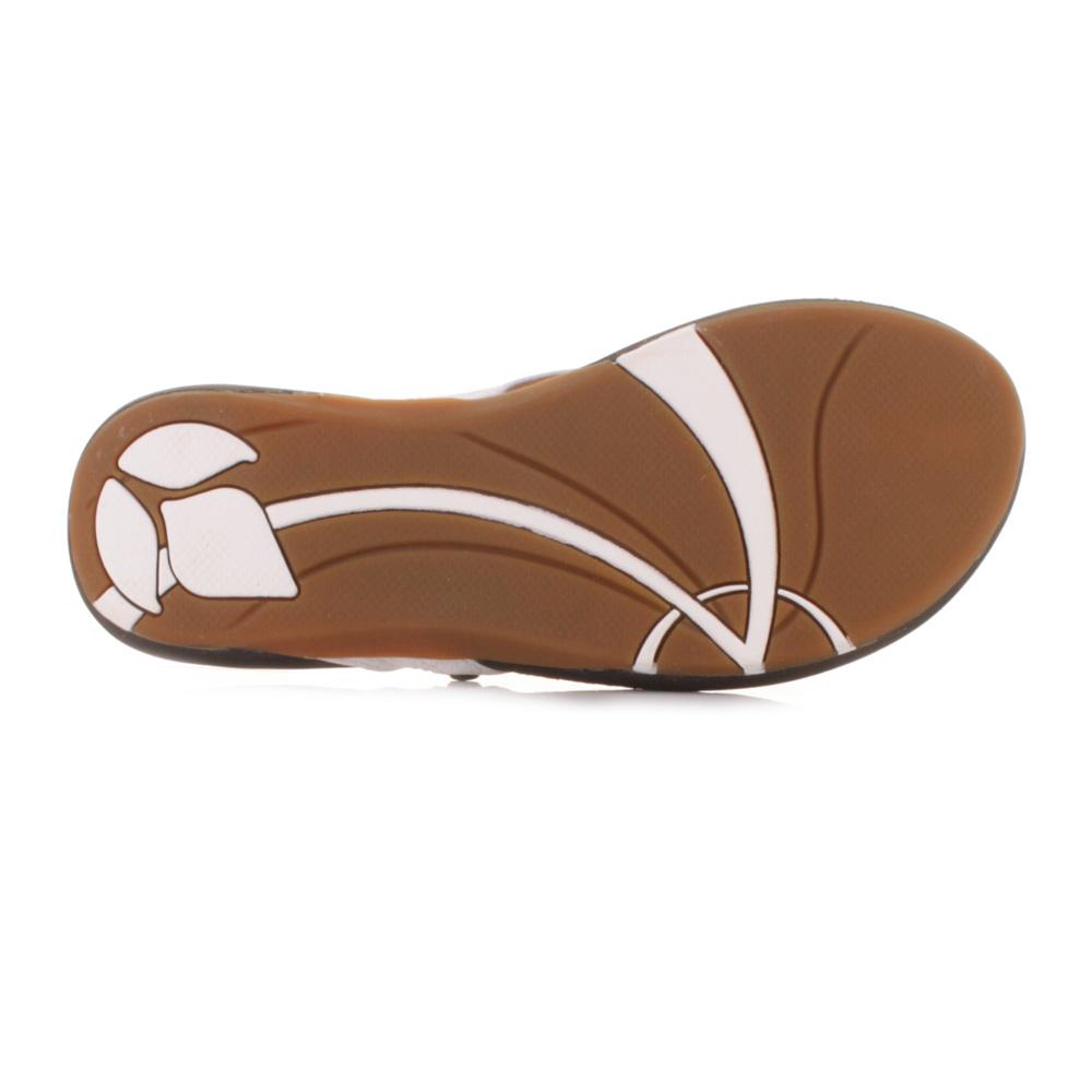c684ff15d Womens Reef Miss J-Bay Tan White Leather Flip Flops Toe Post Sandals Size 3- 8