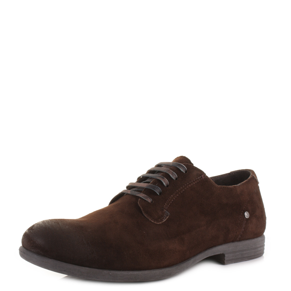 77e337ef4d29c Mens Replay Perform Dark Brown Leather Smart Fashion Work Casual Shoes Size