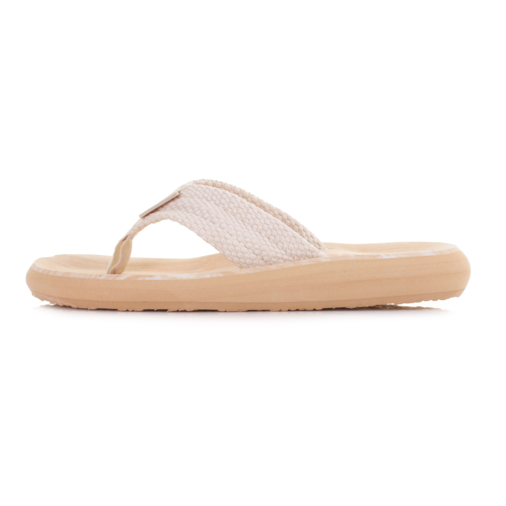d9d99fd50e9eda Rocket Dog double cream Sunset flip flops made from a soft and cushioned  EVA footbed and featuring a comfortable webbing footstrap.
