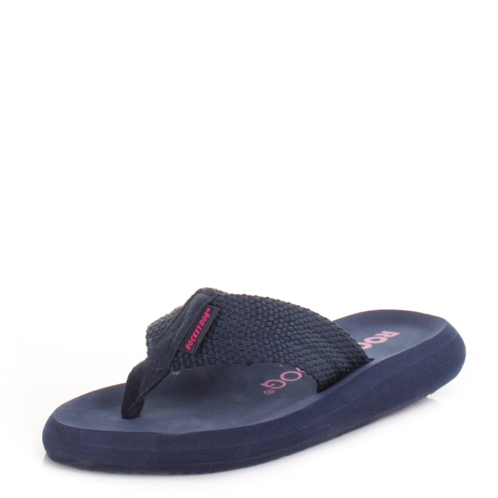 e99cc18098342 Womens Rocket Dog Sunset Navy Ladies Toe Post Flip Flops Sandals Size 3-8