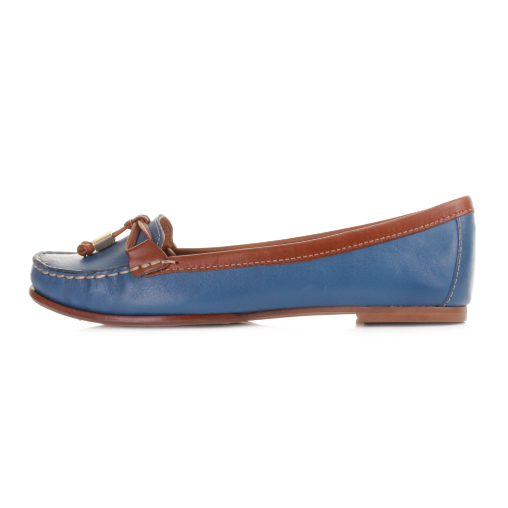 Womens Blue Loafers Shoes