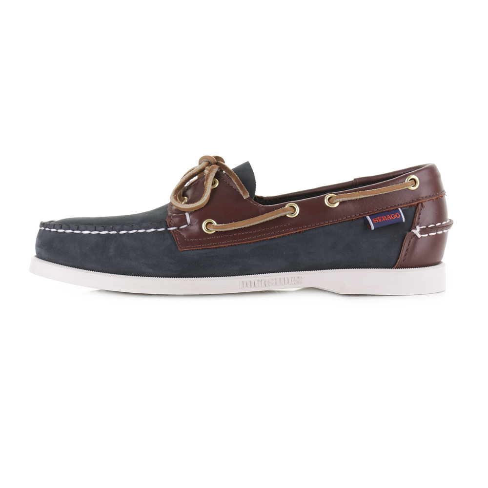 Sebago SPINNAKER - Boat shoes - blue/brown zdZRZEcS