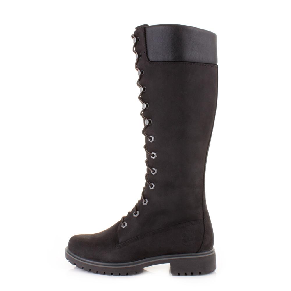 womens black high timberland boots