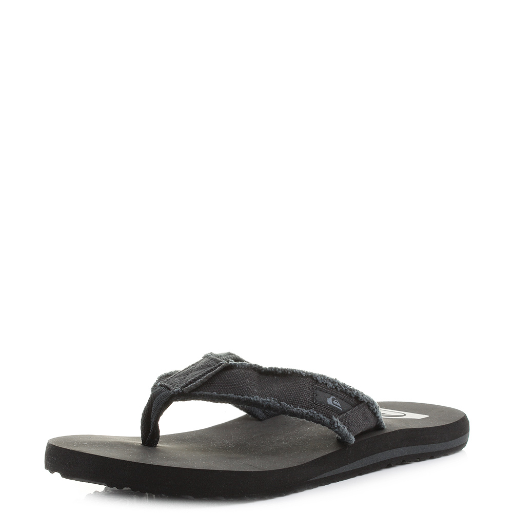 Mens Quiksilver Monkey Abyss Black Toe Post Thong Flip Flop Sandals UK Size