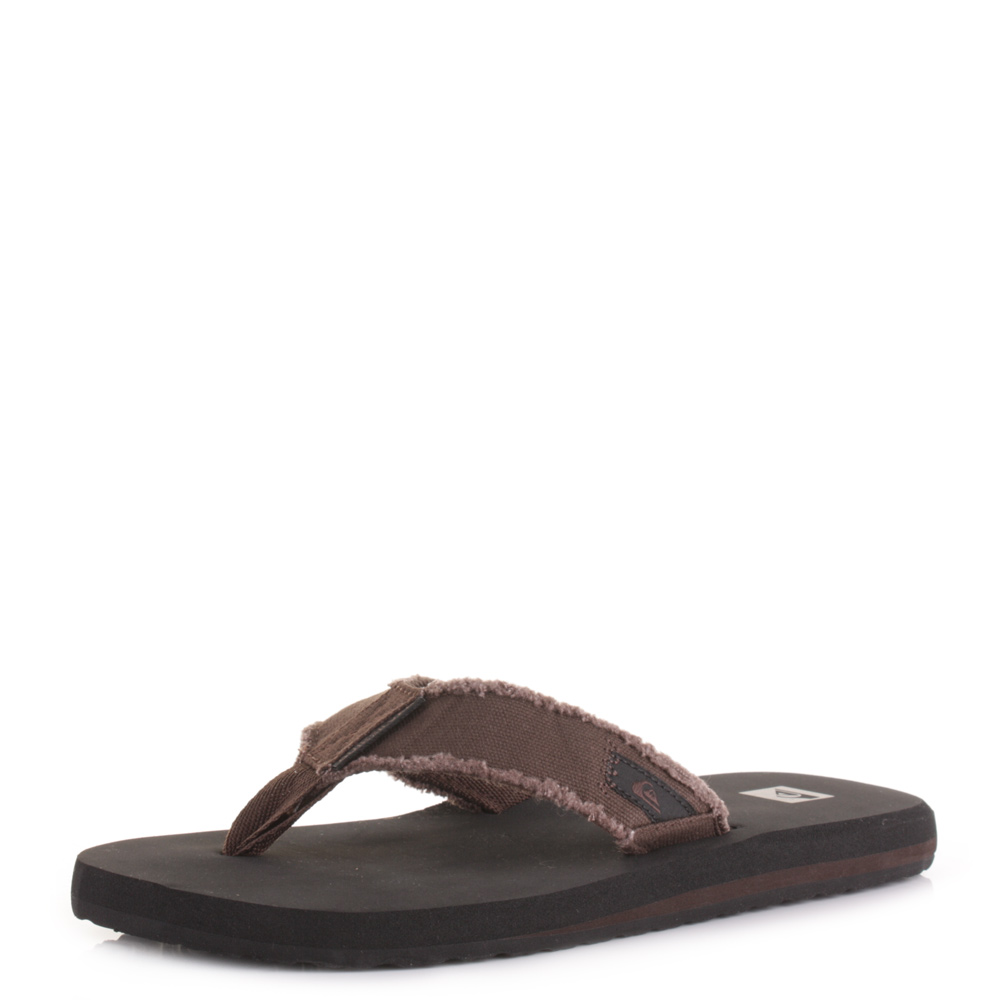 Quiksilver Mens Flip Flops Brown