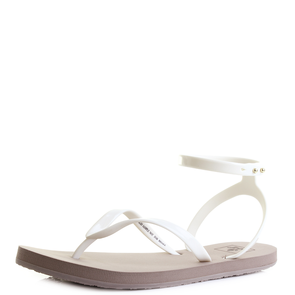 94c610bced52 Womens Reef Stargazer Wrap Taupe Grey Flat Ankle Strap Sandals UK Size