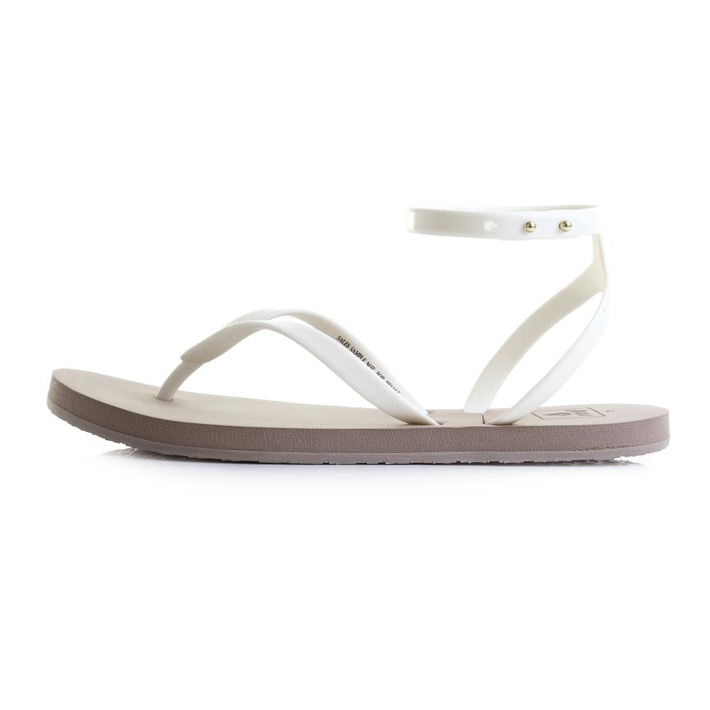 76b47a6f6 Womens Reef Stargazer Wrap Taupe Grey Flat Ankle Strap Sandals Sz Size
