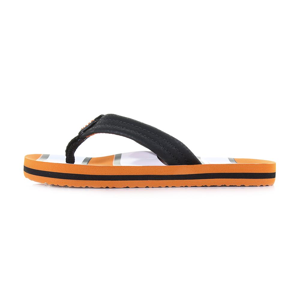 c10a12341b97 Kids Boys Reef Ahi Old Bus Blue Orange Comfort Beach flip Flops Shu Size