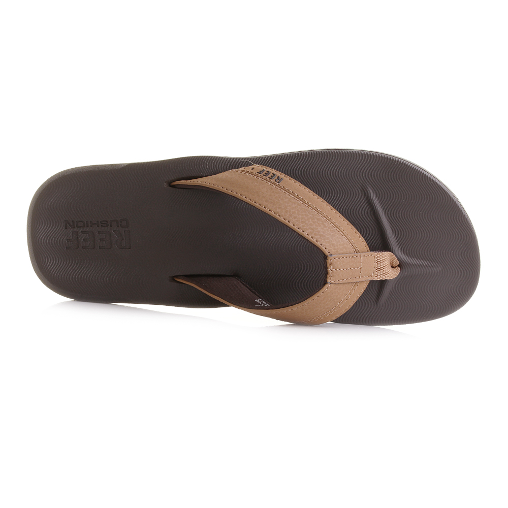 55c90af6e99a Mens Reef Contoured Cushion Brown Comfort Flip Flops Sandals Sz Size ...