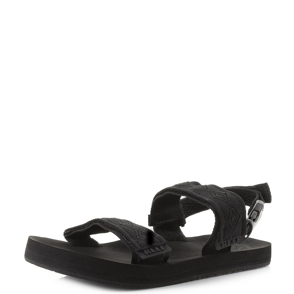 101479b2db4 Details about Mens Reef Convertible Black LightweighT activity Sports  Sandals Shu Size