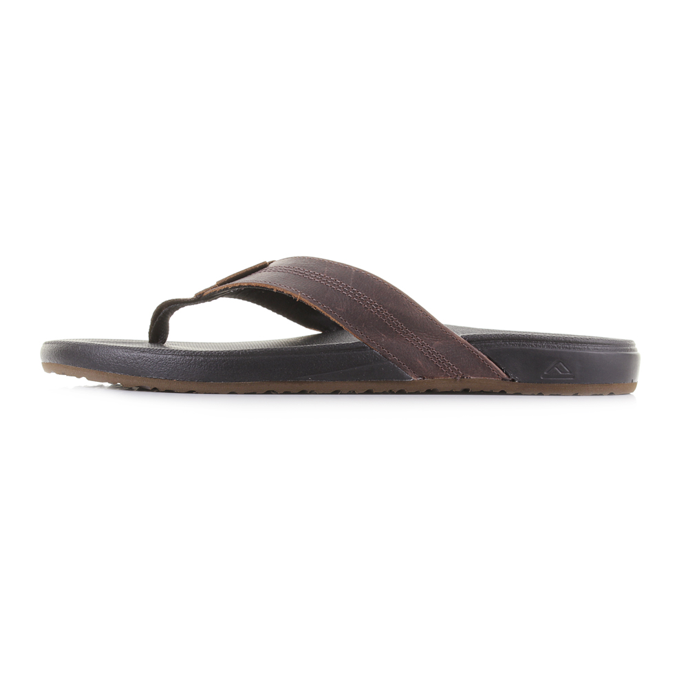1383e1a53c0 Mens Reef Cushion Bounce Phantom LE Leather Black Brown Flip Flops Size