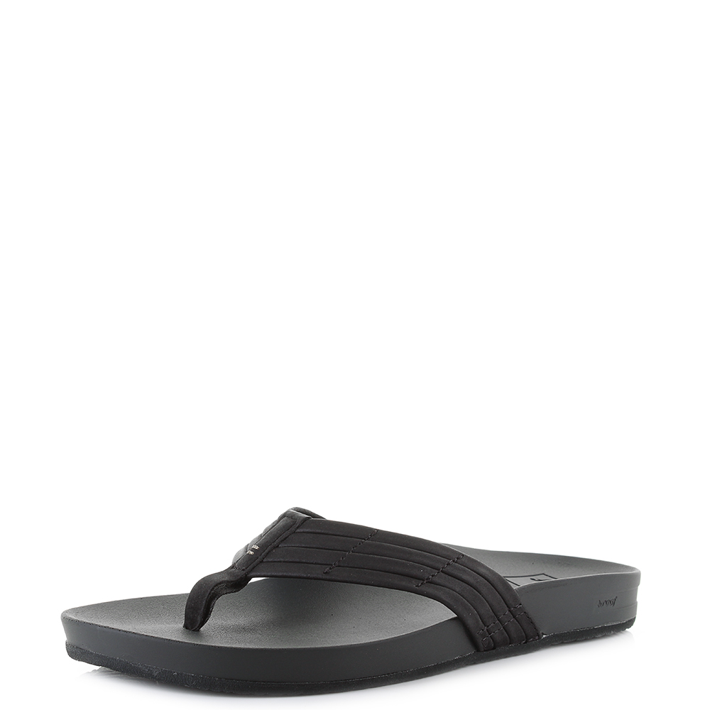 aef5f4f30e10 Details about Womens Reef Cushion Bounce Sunny Black Toe Post Flip Flops  Shu Size