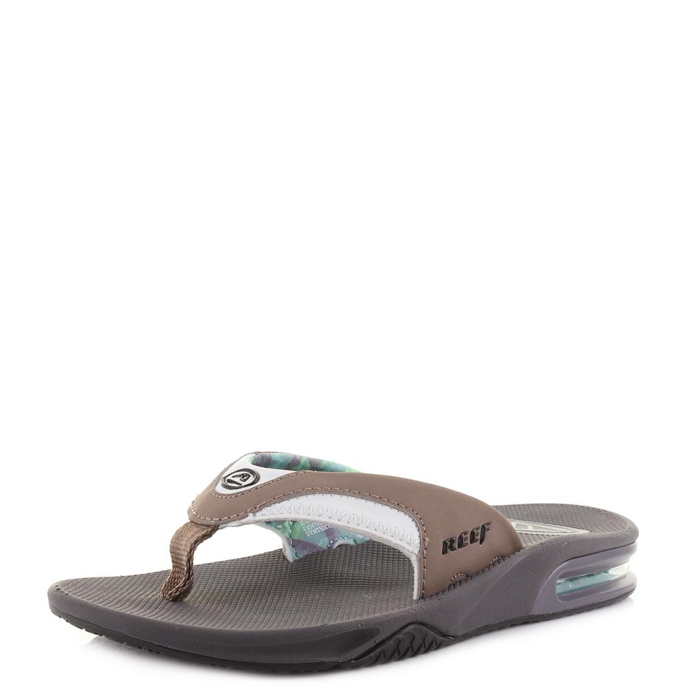 167aba227e68 Womens Reef Fanning Dusty Taupe Casual Toe Post Flip Flops UK Size ...