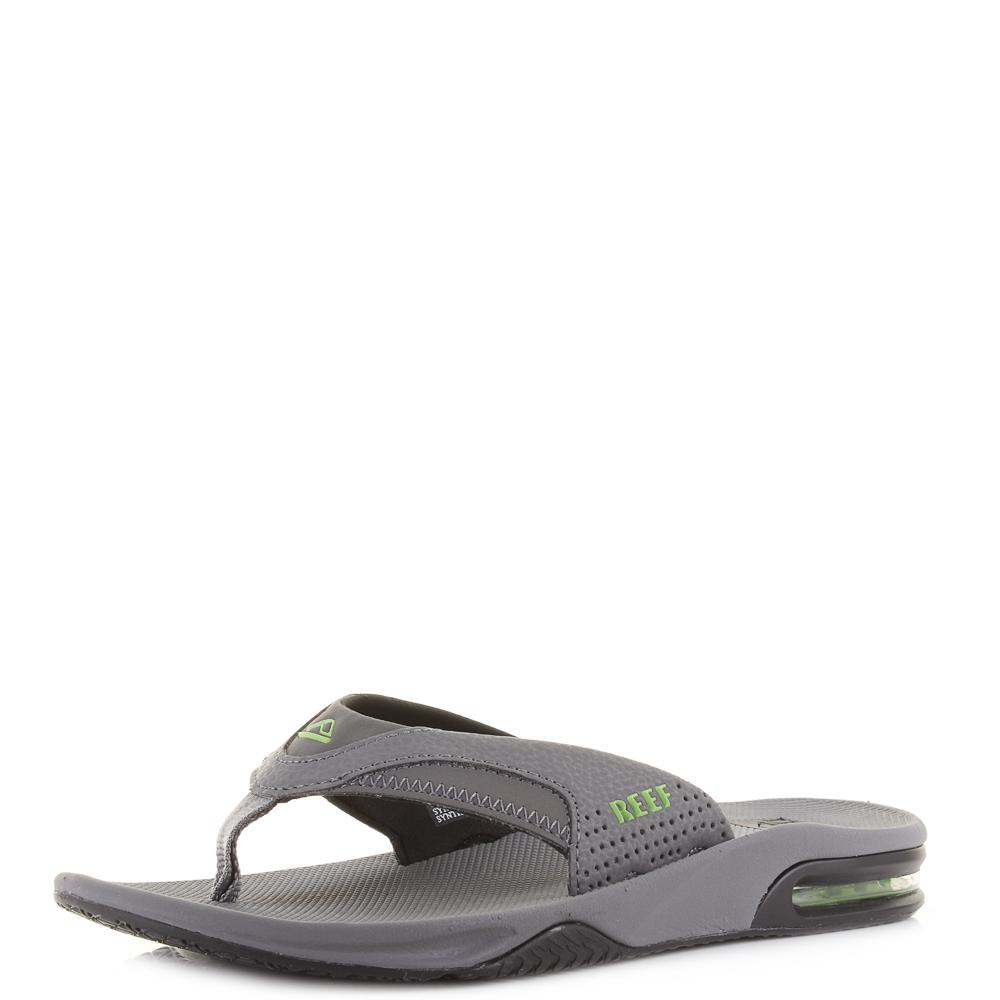 6aa3936cd146 Mens Reef Fanning Green Black Glow Grey Comfort Sports Flip Flops Shu Size
