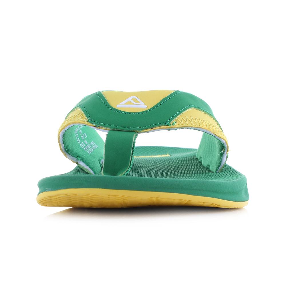 a8003502f352e Mens Reef Fanning Green Yellow Flip Flops Sandals UK Size | eBay