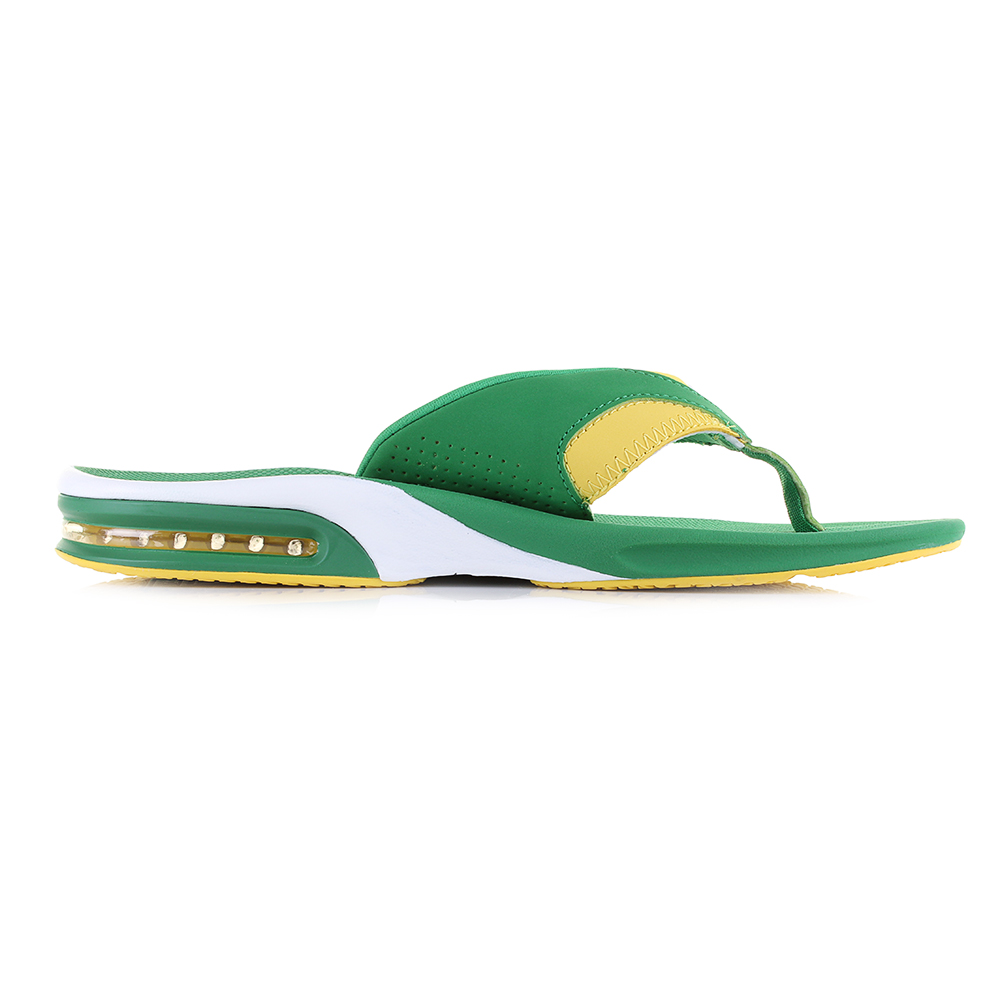 15f563c3e Mens Reef Fanning Green Yellow Flip Flops Sandals Size