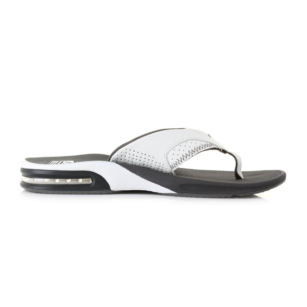 fd7c51d9090 Mens Reef Fanning Grey White Toe Post Surf Beach Thong Flip Flops Sandal  Size