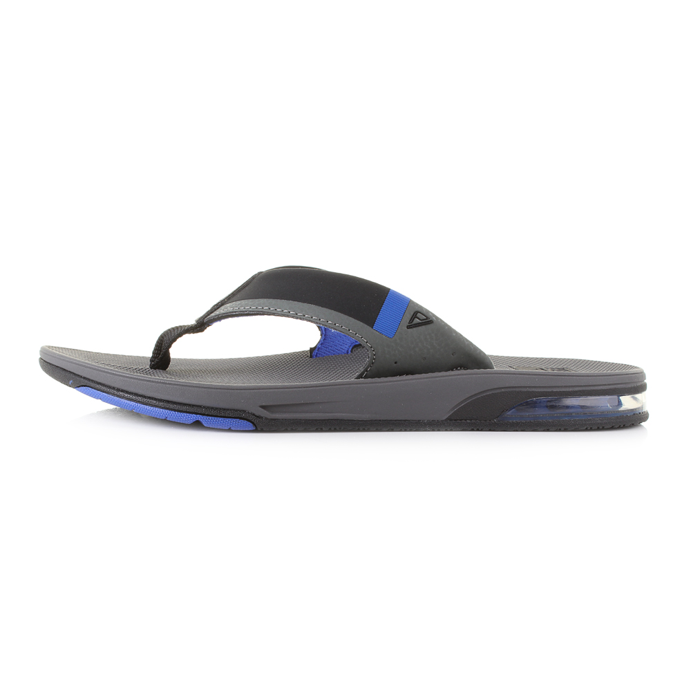 3055db99fb84 Mens Reef Fanning Low Grey Blue Comfort Sandal Flip Flops Size