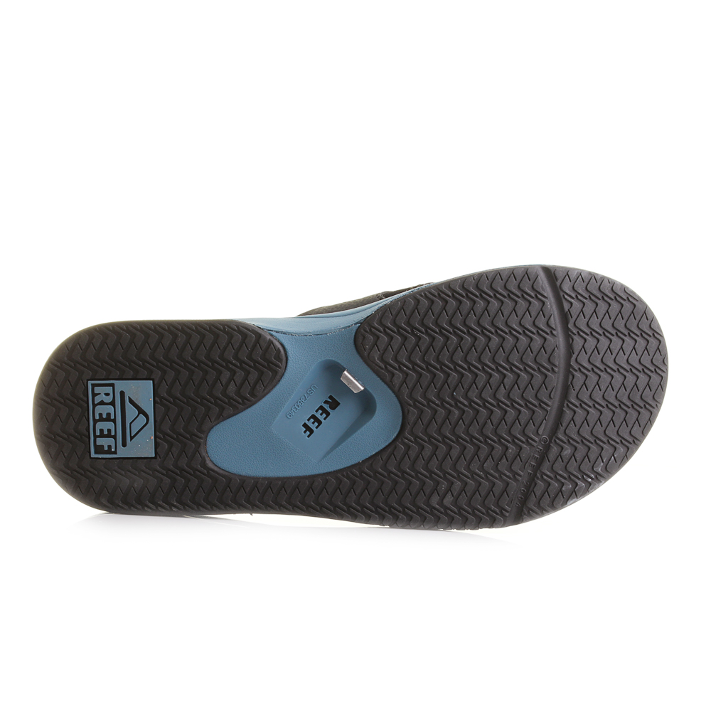 03f1c86aeacc Mens Reef Fanning Steel Blue Toe Post Sandals Flip Flops Shu Size