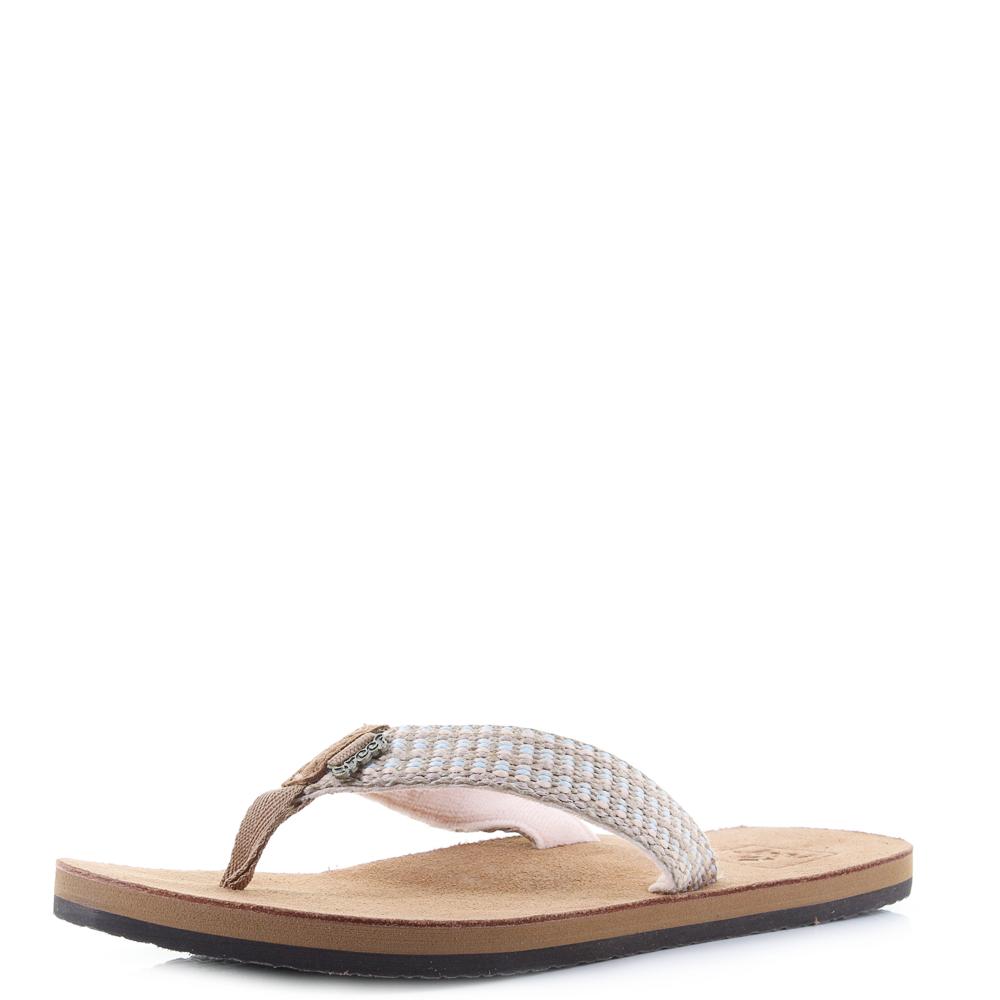 12d3df677b7682 Womens Reef Gypsy Love Pastel Pink Toe Post Flip Flops Shu Size