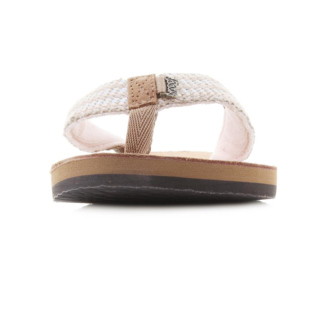 b90b06b7c27e Womens Reef Gypsy Love Pastel Pink Toe Post Flip Flops Shu Size
