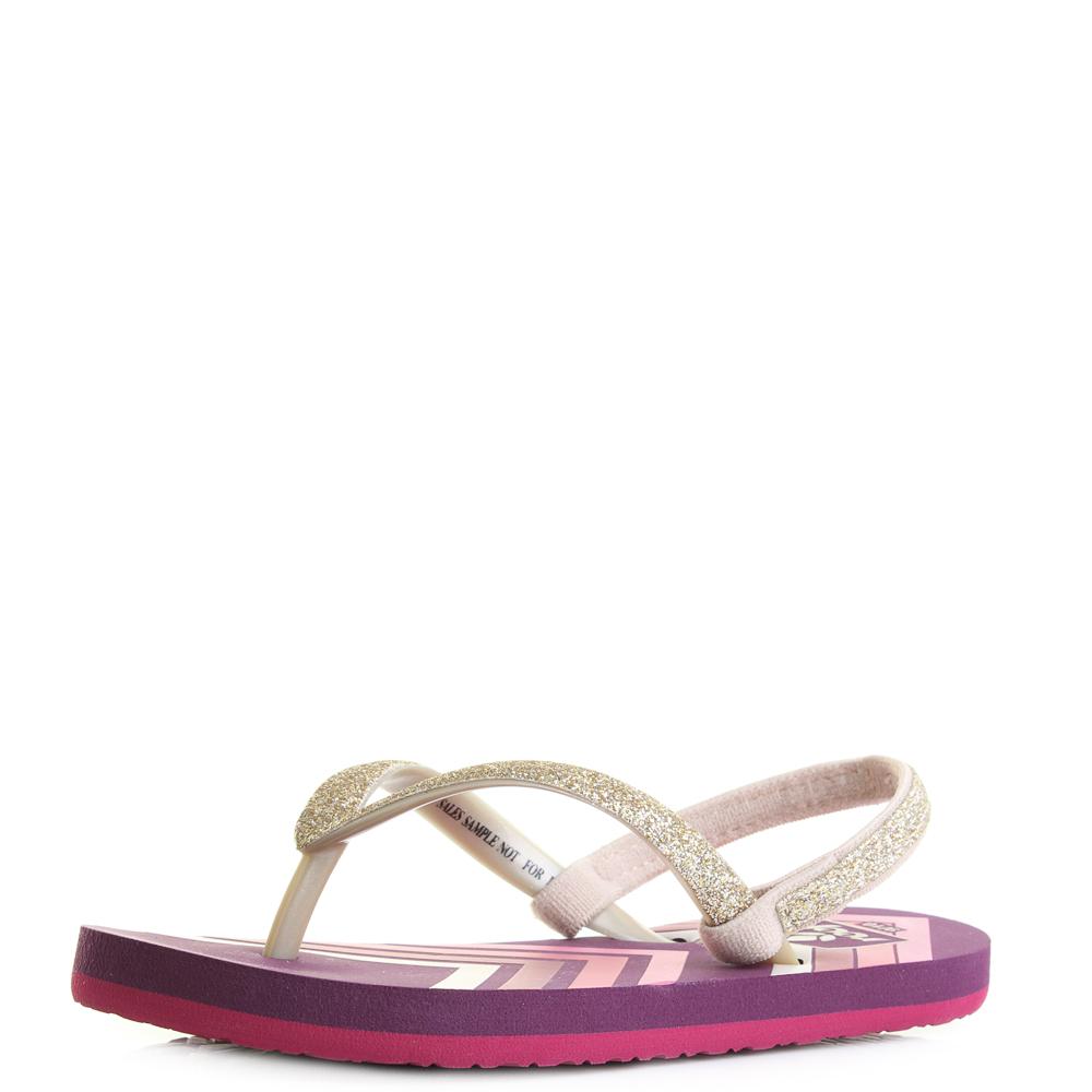 8b3b371143c Details about Girls Reef Little Stargazer Prints Purple Chevron Toe Post  Flip Flops UK Size