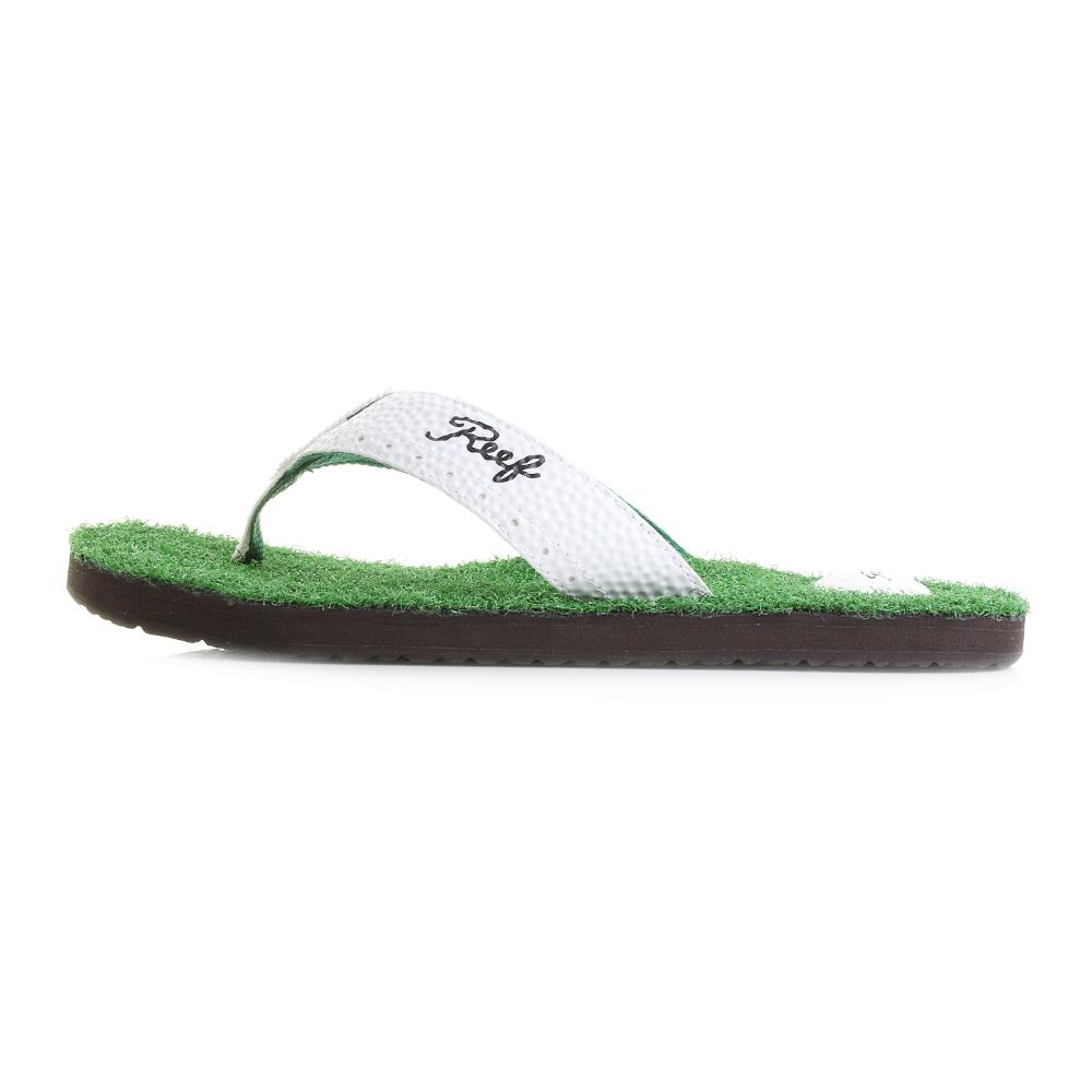b5010bf8af8c5 Mens Reef Mulligan 2 Green Golf Inspired Flip Flops Shu Size