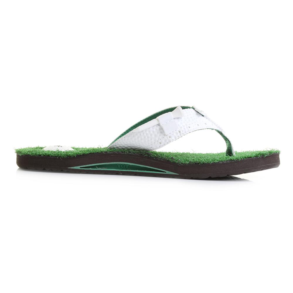 adaae0eee1d9 Mens Reef Mulligan 2 Green Golf Inspired Flip Flops Shu Size