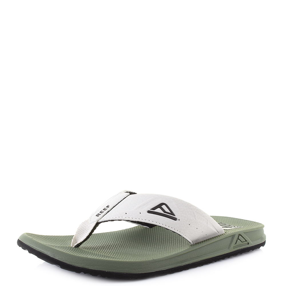 71bd8579905fe Details about Mens Reef Phantoms Olive Tan Green Lightweight Comfort Flip  Flops Size