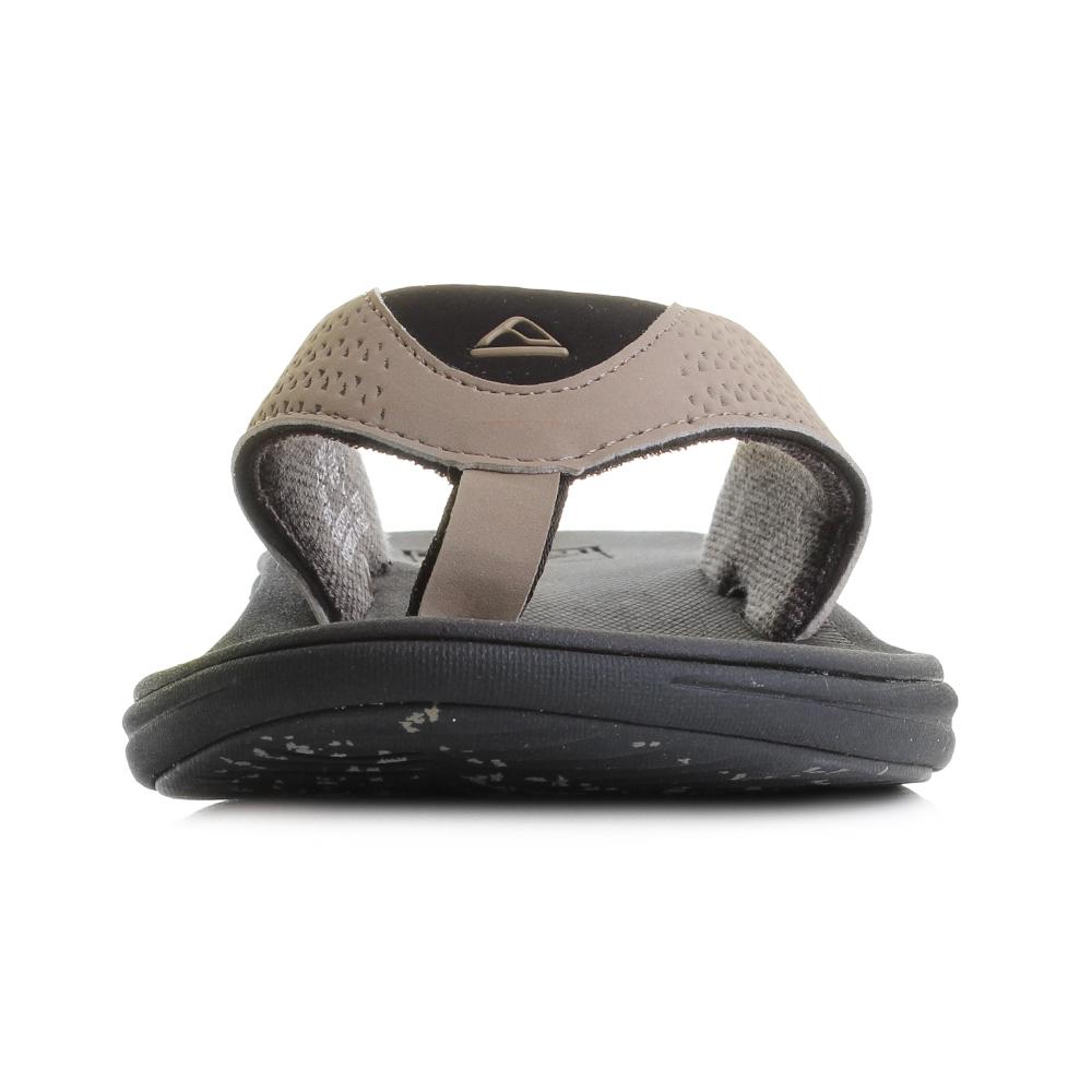 e640f30e72bd Mens Reef Rover Black Tan Flip Flops Sandals UK Size