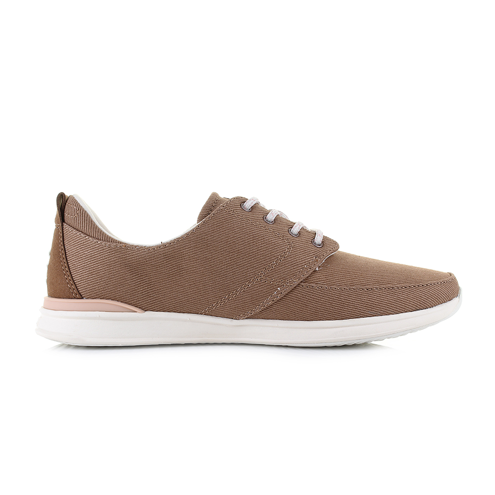 Damenschuhe Reef Rover Niedrig Tobacco Braun Canvas Lightweight Trainers Trainers Trainers Sz ... 421483
