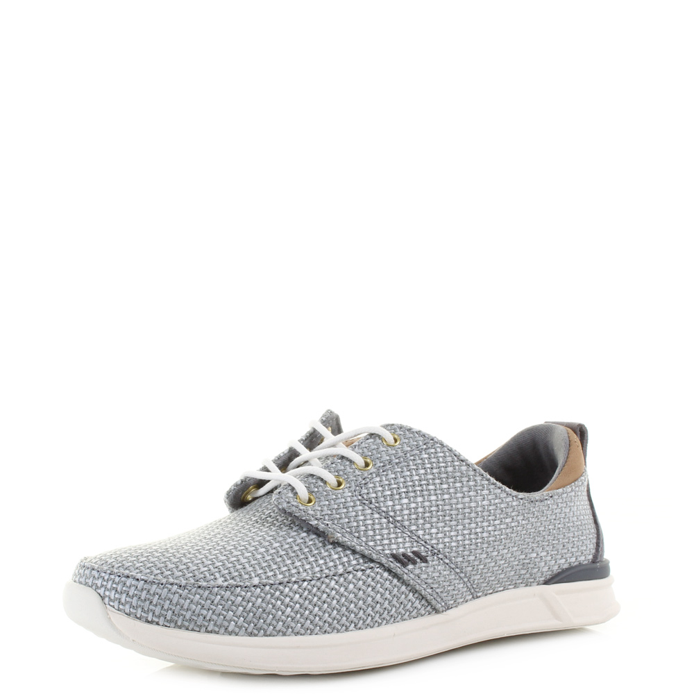 82e26e0c616 Details about Womens Reef Rover Low TX Grey Lightweight Comfort Trainers  Shoes UK Size